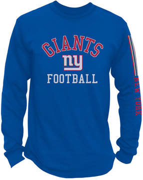 Authentic Nfl Apparel Men's New York Giants Spread Formation Long Sleeve T-Shirt