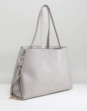 New Look Lace Up Tote Bag