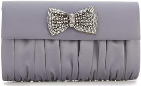 Kate Landry Bow Flap Satin Clutch