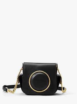Michael Kors Scout Medium Leather Camera Bag - BLACK - STYLE