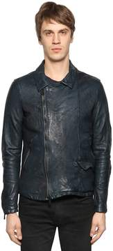 Giorgio Brato Wrinkled Nappa Leather Jacket