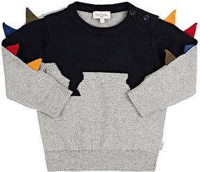 Paul Smith Infants' Dinosaur-Motif Cotton-Cashmere Sweater