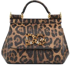 Dolce & Gabbana Spotted Sicily Bag - NERO/COGNAC - STYLE