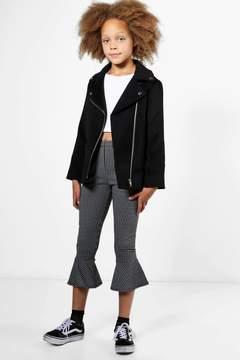 boohoo Girls Wool Look Biker Jacket