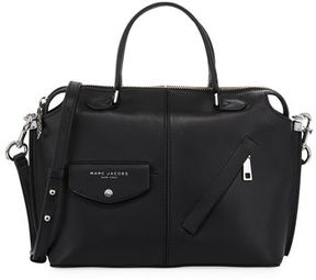Marc Jacobs The Edge Leather Satchel Bag - BLACK - STYLE