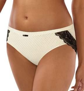 Bali CD63 Cotton Desire Microfiber Hipster Panty (Whisper White Microdot 9)