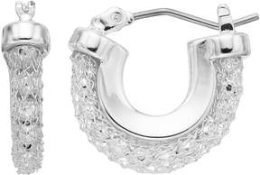 Dana Buchman Mesh Chain Hoop Earrings