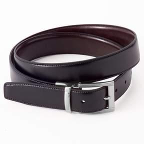 Croft & Barrow Reversible Stitch-Edge Faux-Leather Belt