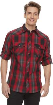 Rock & Republic Men's Western Plaid Button-Down Shirt