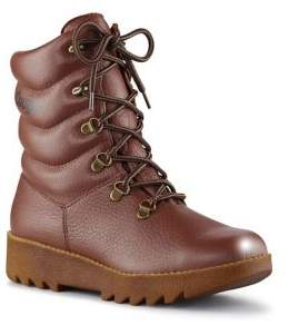 Cougar Lace-Up Leather Boots