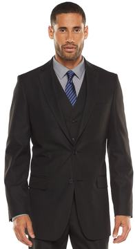 Apt. 9 Men's Modern-Fit Striped Dark Gray Suit Jacket & Vest