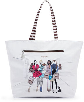 Henri Bendel Reversible Packable Runway Girls Tote
