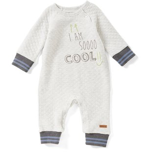 Robeez Baby Boys Newborn-24 Months Quilted Long-Sleeve Coverall