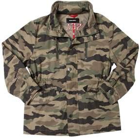 Diesel Camo Print Cotton Gabardine Jacket