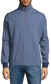 Robert Graham Half-Zip Cotton Sweater