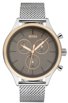 BOSS Men's Companion Chronograph Mesh Bracelet Watch, 42Mm