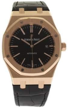 Audemars Piguet Royal Oak 15400OR.OO.D002CR.01 18K Rose Gold & Leather Automatic 41mm Mens Watch