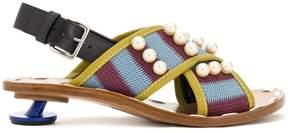 Marni cross-over low heel sandals