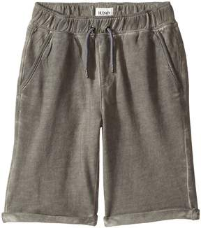 Hudson Pigment Dye Pull-On Shorts in Silver Cloud (Big Kids)
