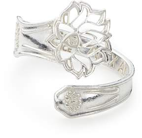 Alex and Ani LOTUS PEACE PETALS Spoon Ring