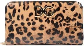 Dolce & Gabbana Dauphine Zip Around Wallet - BROWN - STYLE