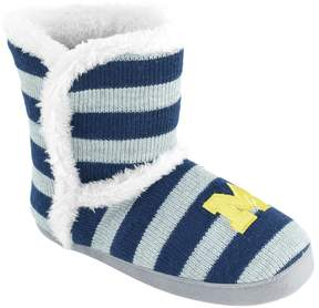 NCAA Women's Michigan Wolverines Striped Boot Slippers