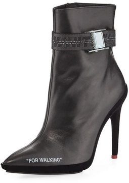 Off-White For Walking Leather Ankle Boot