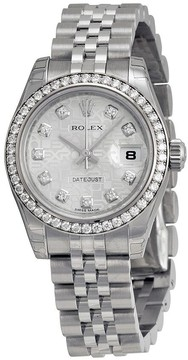 Rolex Lady Datejust 26 Silver Dial Stainless Steel Jubilee Bracelet Automatic Watch