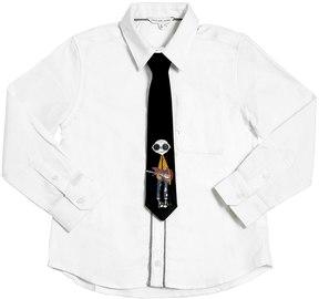 Little Marc Jacobs Oxford Cotton Shirt W/ Tie