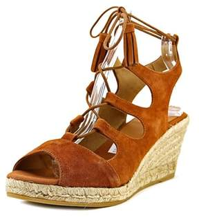 Kanna Kv6333 Women Open Toe Leather Tan Wedge Sandal.