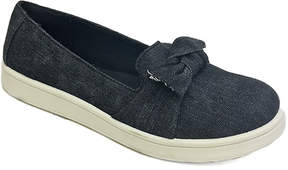 Bamboo Black Denim Bow-Accent Habit Slip-On Sneaker - Women