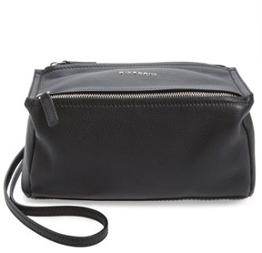 Givenchy 'Mini Pandora' Sugar Leather Shoulder Bag - Black