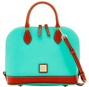 Dooney & Bourke Pebble Grain Zip Zip Satchel - JADE - STYLE
