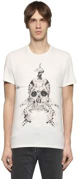 Just Cavalli Printed Cotton Jersey T-Shirt