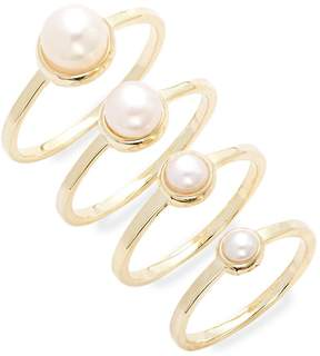 Eddie Borgo Women's Stackable Pearl Ring Set