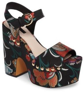 Topshop Women's Lourdes Embroidered Platform Sandal