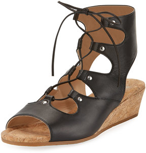 Amalfi by Rangoni Morata Leather Lace-Up Sandal, Black