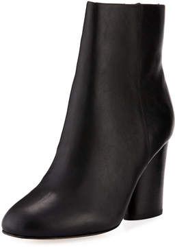 Neiman Marcus Niana Smooth Leather Bootie, Black