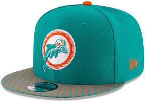 New Era Boys' Miami Dolphins 2017 Official Sideline 9FIFTY Snapback Cap