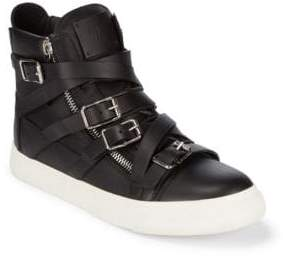 Giuseppe Zanotti Multistrap Double-Zip High-Top Sneakers