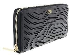 Roberto Cavalli Long Size Wlt W/zipper Audrey Black Wallet