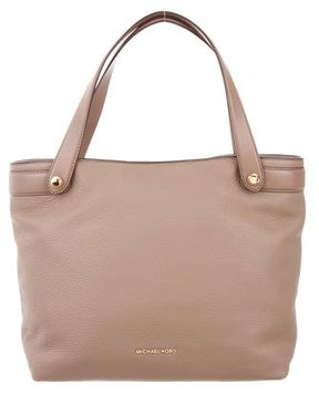 MICHAEL Michael Kors Grained Leather Satchel - BROWN - STYLE