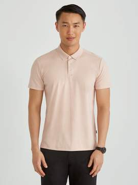 Frank and Oak Piqu Polo in Misty Rose