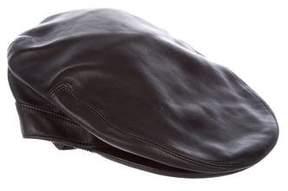 Gucci Leather Newsboy Hat