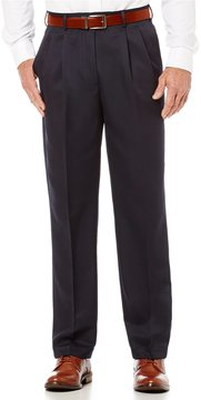 Roundtree & Yorke Big & Tall Travel Smart Non-Iron Pleated Ultimate Comfort Microfiber Stretch Dress Pants
