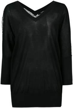 Derek Lam Batwing Sweater with Printed Back