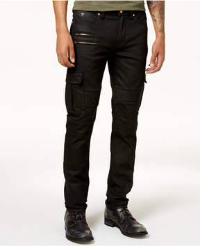 GUESS Men's Slim-Fit Tapered Stretch Moto Jeans