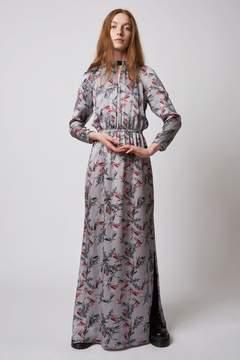 Dagmar | Vara Shiny Viscose Dress Flower Print | M