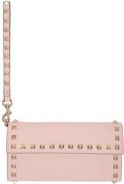 Valentino Pink Garavani Rockstud Flap Wallet