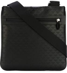 Emporio Armani logo print shoulder bag
